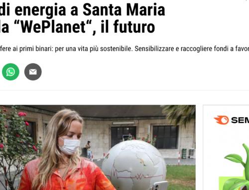 """La Nazione Firenze – Globi di energia a Santa Maria Novella """"WePlanet"""", il futuro"""
