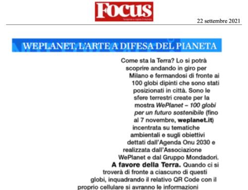 Focus – Weplanet. L'arte a difesa del pianeta
